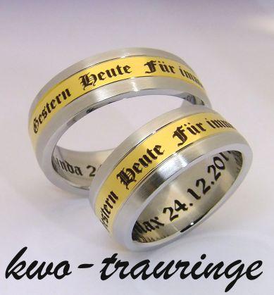Details about 2 Eheringe Hochzeitsringe Partnerringe Verlobungsring e ...